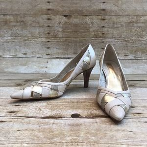 Antonio Melani Woven Pointed Toe Pumps Size 7.5